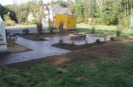 Walkway to Patio with Fire Pit – Tyngsboro – After