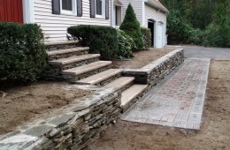 Replace wall, put in new steps and walkway – Tyngsboro – After