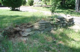 Rock wall – Haverhill – Before