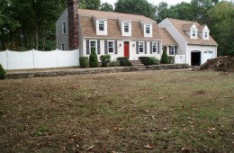 New lawn and plantings – Tyngsboro – Before