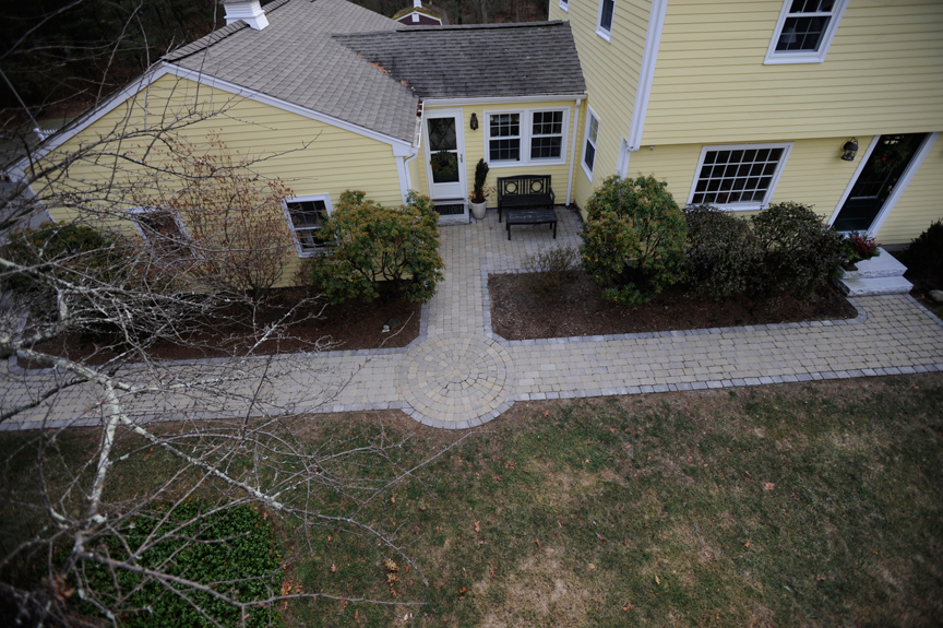 Walkway, patio with granite steps – Boxford