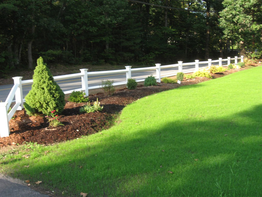Mulch bed with plantings